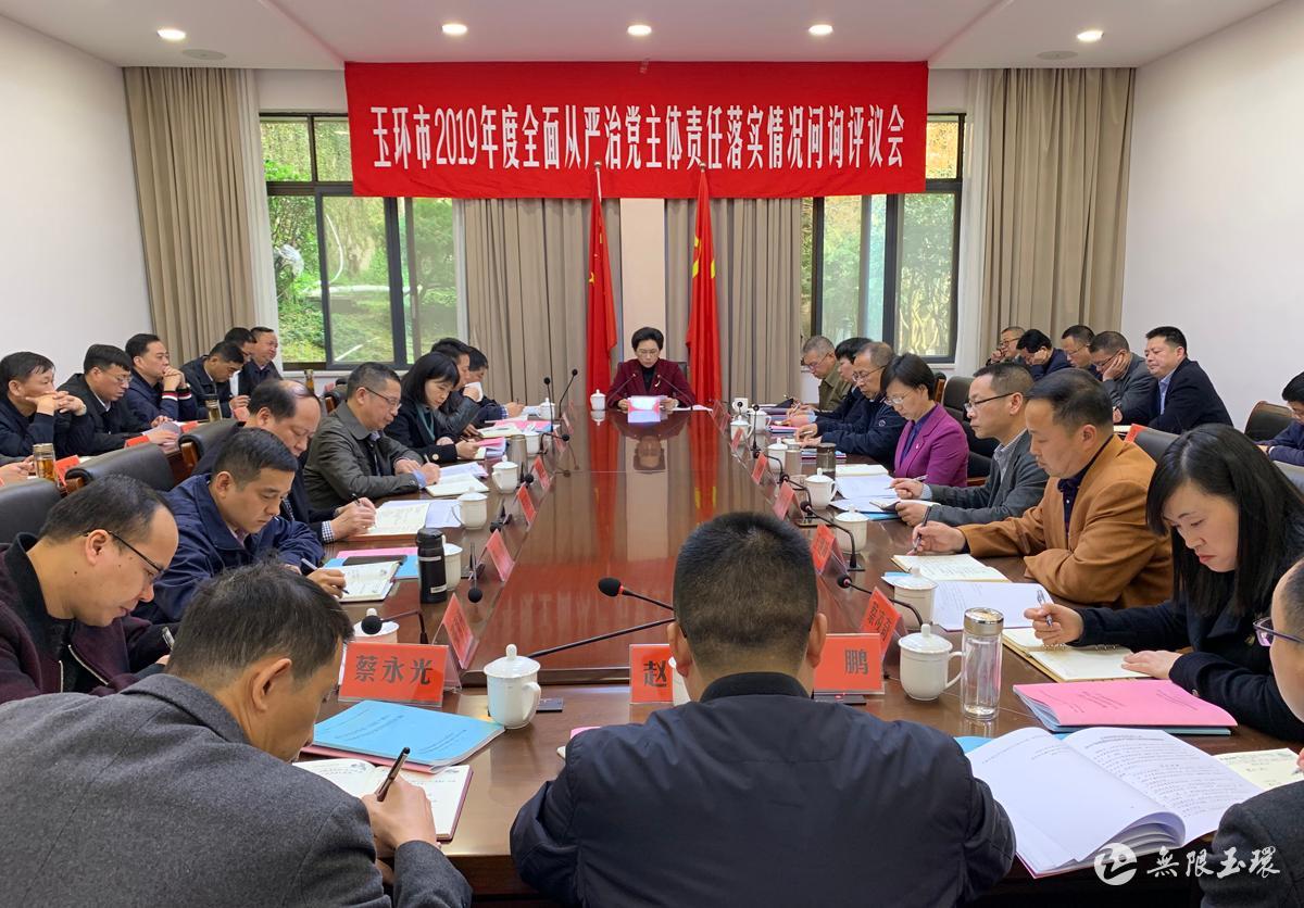 2019年度全面从严治党主体责任落实情况问询评议会 林俐