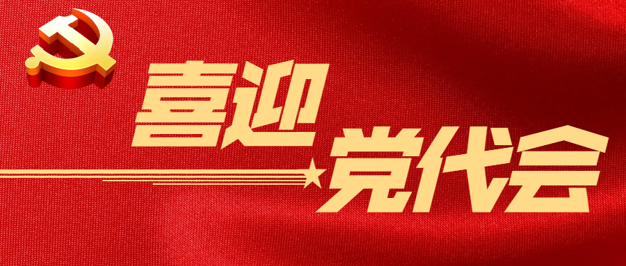 喜迎党代会 logo